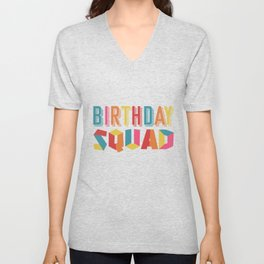 Birthday team Unisex V-Neck