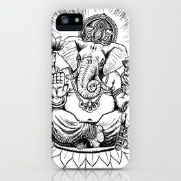Ganesh: Black iPhone Case