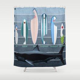 Shark Week - A balanced diet is essential  Shower Curtain
