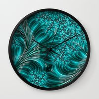 underwater Wall Clocks featuring Underwater by Steve Purnell