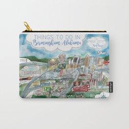 Cartoon Map of Birmingham, Alabama Landmarks Carry-All Pouch
