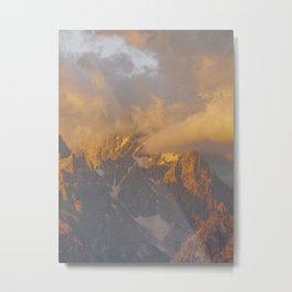 Sunrise Peak Metal Print