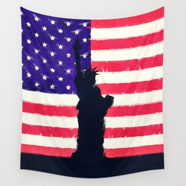 Patriotic American Flag Wall Tapestry