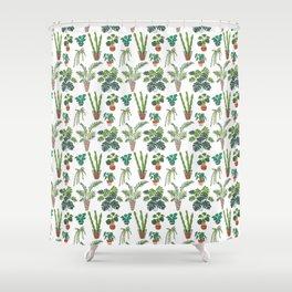 flowerpots pattern Shower Curtain
