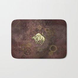 Steampunk Zodiac  Taurus Bath Mat