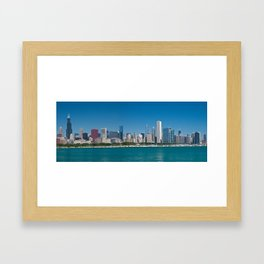 Chicago Skyline Panorama Framed Art Print