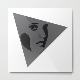 black triangular - line Metal Print