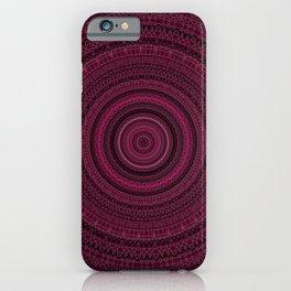 Dark Pink Rose Mandala iPhone Case