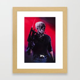 Cobra Skeleton Framed Art Print