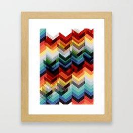 Chevron Multicolour Framed Art Print