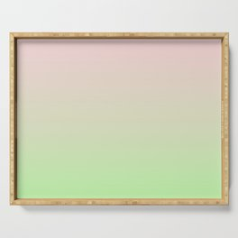Pastel Ombre Millennial Pink Green Gradient Pattern Serving Tray