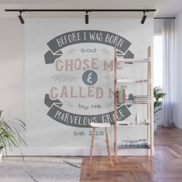 """Called"" Hand-Lettered Bible Verse Wall Mural"
