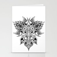 deathly hallows Stationery Cards featuring Deathly Hallows  by KropsGrafik