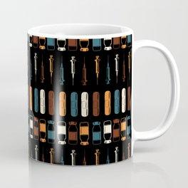 Vintage Vaccines - Large on Black Coffee Mug