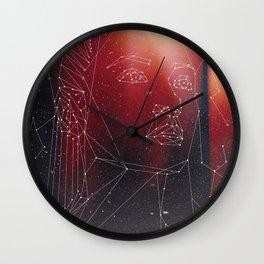 Red (Nyota Uhura AOS Fanart) Wall Clock