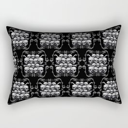 Skulls and Filigree - Damask Rectangular Pillow