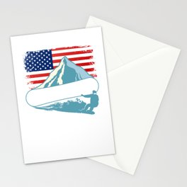 Snowboarding Athlete Winter Sports Stationery Cards