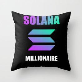Solana Millionaire Throw Pillow
