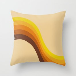 70s Color Palette Throw Pillow