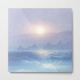 Pastel landscape & sunset Metal Print