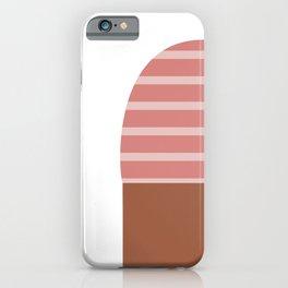 Pink & Black T-Shirt iPhone Case