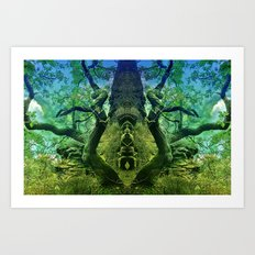 Mystical site in the forest Art Print