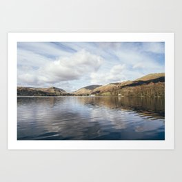 Grasmere and Helm Crag (Lion and the Lamb) beyond. Cumbria, UK. Art Print