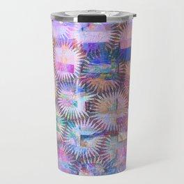 Abstract Anenome Pattern in Purple Pastel Travel Mug