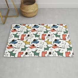 Dogs Animals Prints patterns Rug