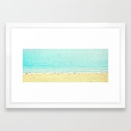 I shoot Beaches ~>> Framed Art Print
