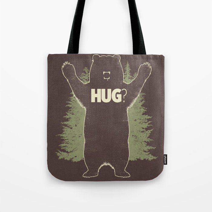 Bear Hug? (dark version) Tote Bag