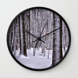Winter in the Woods Wall Clock