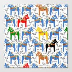 Dala Horse pattern Canvas Print