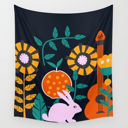 Music and a little rabbit Wall Tapestry