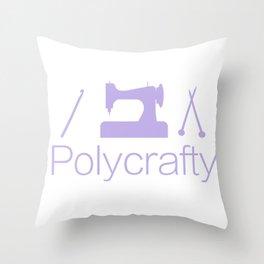 Polycrafty: Sewing Knitting Crochet Throw Pillow