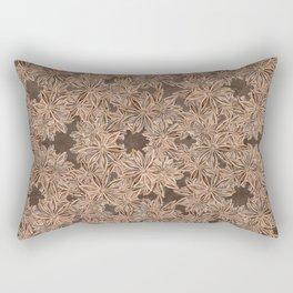 Star Anise Pattern Rectangular Pillow