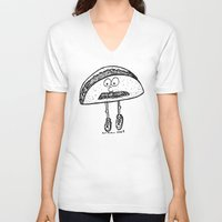 taco V-neck T-shirts featuring Taco by Addison Karl