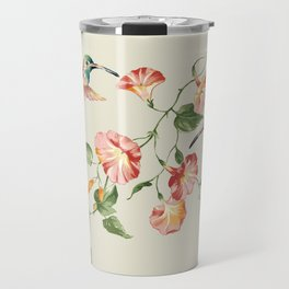 hummingbirds & morning glories Travel Mug