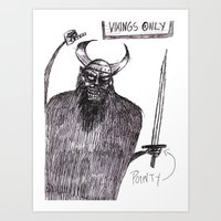 vikings Art Prints featuring Vikings Only! by Extreme-Fantasy