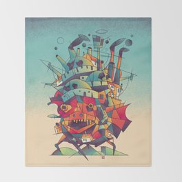 Moving Castle Throw Blanket