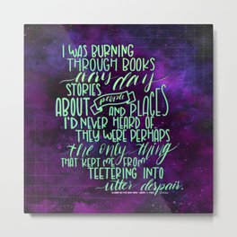 Burning Through Books (ACOMAF) Metal Print
