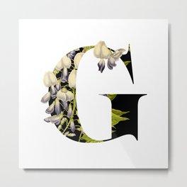 Secret Garden in Letter G / with Vintage Feel Metal Print