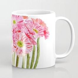 Pink Gerbera Daisy watercolor Coffee Mug