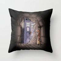 narnia Throw Pillows featuring Bigger on the Inside! by Billy Allison