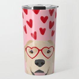 Yellow Lab valentines day labrador retriever dog breed must have gifts retrievers Travel Mug