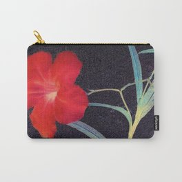 Breezy Rustic Red Flower Carry-All Pouch