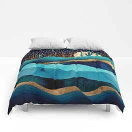 Indigo Desert Night Comforters