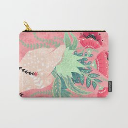 Pink Bouquet Carry-All Pouch