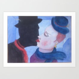 a couple  love Art Print