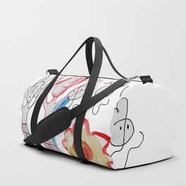Red Devil With Ghosts and Flower Duffle Bag